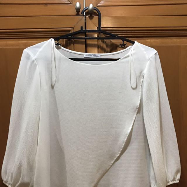 Zara Off-White Top