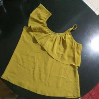Top, Atasan, Baju Kuning, Tank Top