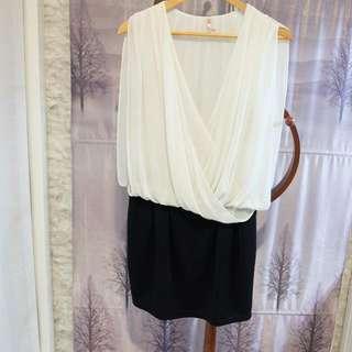 DRESS MINI BLACK AND WHITE