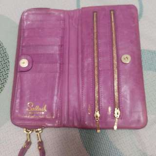 Salad Leather Long Wallet