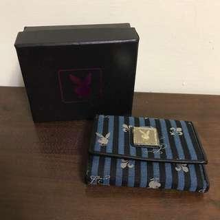 🚚 費歐娜の物🌲全新 可換物🌲Playboy 條紋 藍色 可放兩照片 皮夾