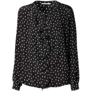 Gerard Darrel Silk Polka Dot Blouse NWOT