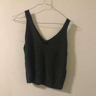 Streetwear Society Olive Knit Tank Top