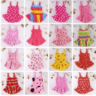 兒童泳衣 90、100、110 女童泳裝 連身洋裝