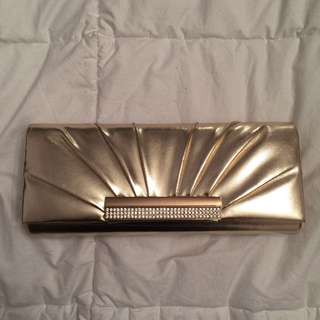 Satin Gold Clutch