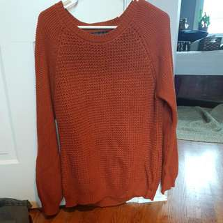 Burnt Orange Knit Sweater