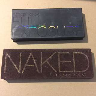 Naked Palette And Smashbox Full Exposure Palette