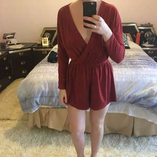 Red Playsuit Size M