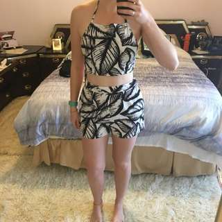 Halter Top And Shorts Set Size 10