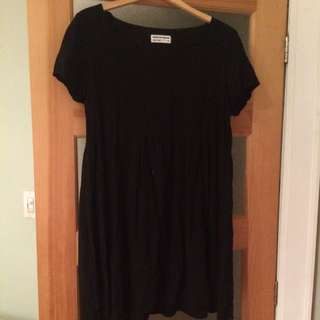 American Apparel Black Baby Doll Dress