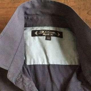 G2000 Slim Fit 長袖點點襯衫