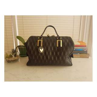 Quilted Black Totebag