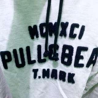 Pull&Bear T.Mark Hoodie (Pure White List Navy)