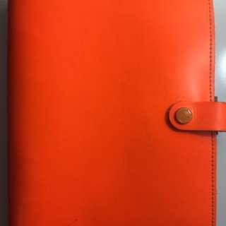 Neon Orange Filofax