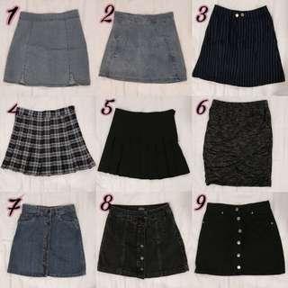 #1212YES HMU SALE: Skirts