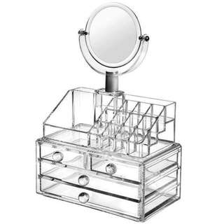 3-layer Make Up Organizer With mirror
