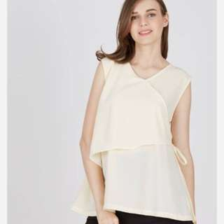 sleeveless blouse krem