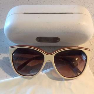 Authentic Chloe Sunglasses Vintage CL2181A  White Beige Cream