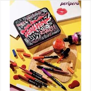 韓國正品 Peripera 蠟筆唇彩禮盒組 一盒八入