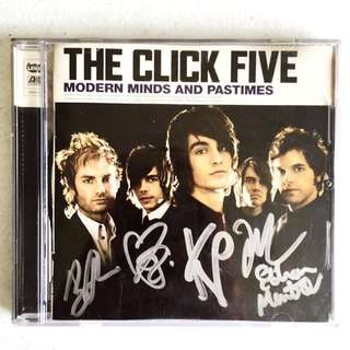 The Click Five Signed CD