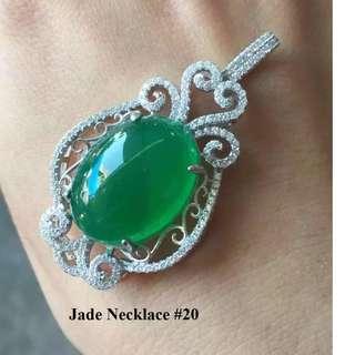 Jade Pendant Necklace #20