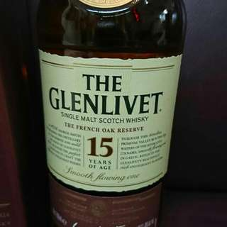 Glenlivet 15 year old French Oak Malt Whisky 700ml