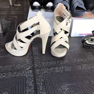 Size 5 / 35 Cream Strappy High Heels