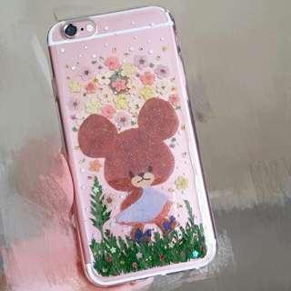 the bear school 壓花手機殼Diy iphone6