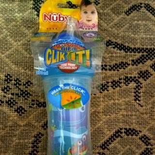 Nuby No Spill Click It Straw Bottle
