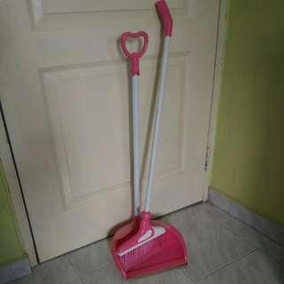 Detachable Broom With Dustpan Set