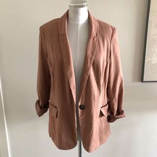 SIZE 10 JUST JEANS pale Pink Cotton Blazer