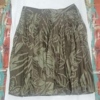 Esprit Knee Length Skirt Floral Green
