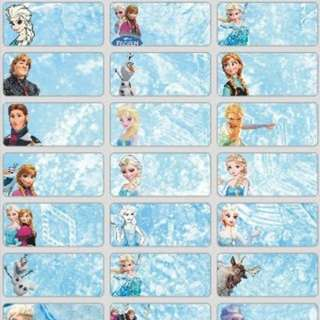 Name Stickers - Frozen