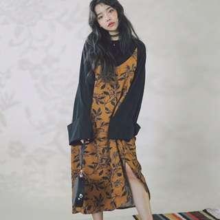 korean slip on dress