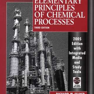 Elementary Principles Of Chemical Processes Third Edition