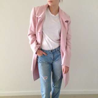 PRICE DROP: Pink Wool Coat