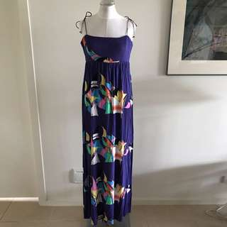 SIZE 10 BIRDS OF A FEATHER maxi Dress