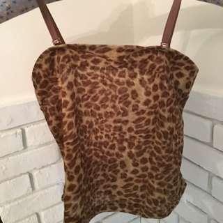 豹紋,粉紅堤花,咖啡蕾絲三件內搭小背心(可單穿)