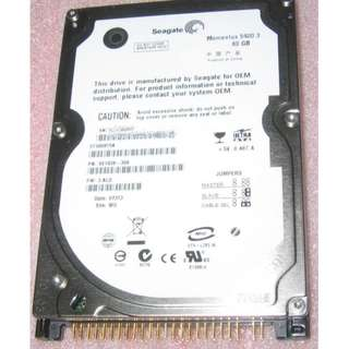 Seagate 80GB IDE 2.5-inch harddisk