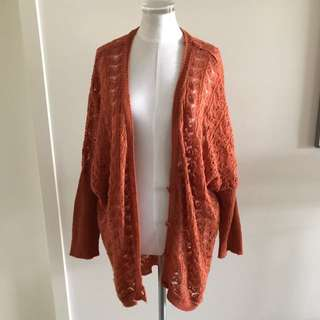 SIZE 10 SASS burnt Orange Batwing Knit