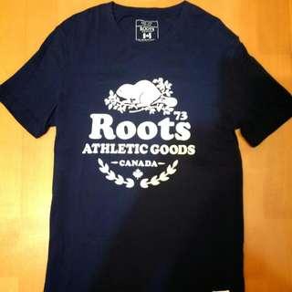 🚚 Roots  深藍短T