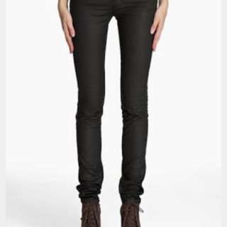 Acne Kex Pleather Black Jeans