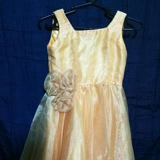Golden Gown for 3-4  years old