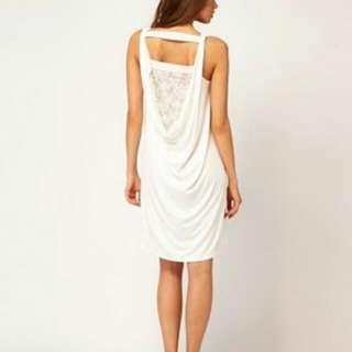 🌿 Drape Dress With Lace Back