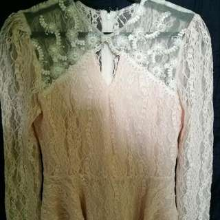 Lacey Pink Blouse