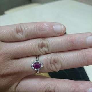 凱麒珠寶贈天然紅寶戒指