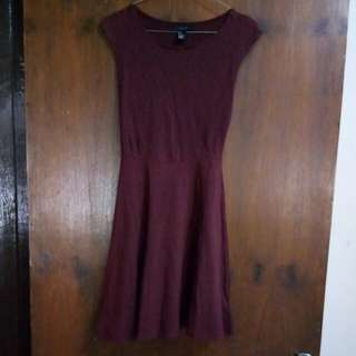 (Titipan No Barter) Dress Maroon Forever 21