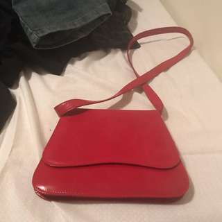 Luxury Red Shiny Bag