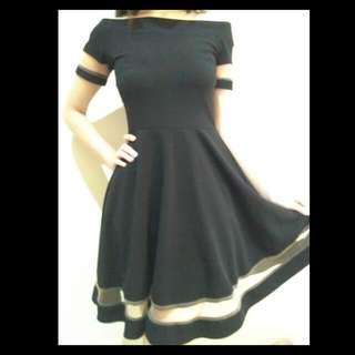 Organza Black Dress