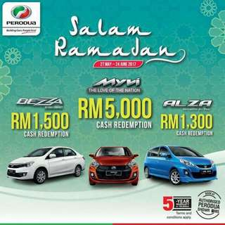 Promosi Raya Dari Perodua. Dapatkan Rebate Dari Perodua Sekarang. Rebate Boleh Topup Utk Downpayment. Call/wassap 0177950407 #shari